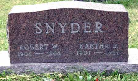 SNYDER, ROBERT W. - Madison County, Ohio   ROBERT W. SNYDER - Ohio Gravestone Photos