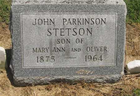 STETSON, JOHN PARKINSON - Madison County, Ohio   JOHN PARKINSON STETSON - Ohio Gravestone Photos