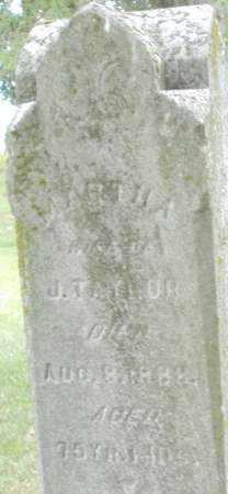 TAYLOR, MARTHA - Madison County, Ohio | MARTHA TAYLOR - Ohio Gravestone Photos