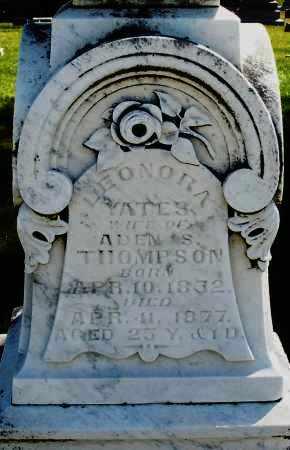 YATES THOMPSON, LEONORA - Madison County, Ohio   LEONORA YATES THOMPSON - Ohio Gravestone Photos