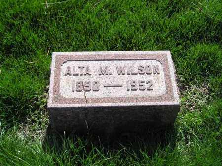 WILSON, ALTA MAY - Madison County, Ohio | ALTA MAY WILSON - Ohio Gravestone Photos