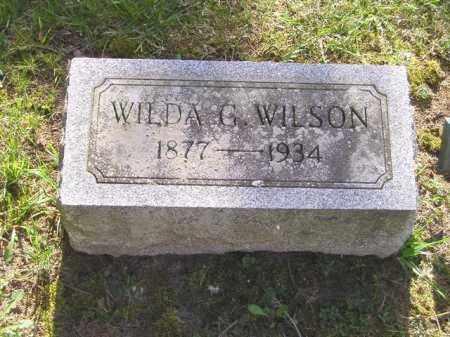 WILSON, WILDA G. - Madison County, Ohio   WILDA G. WILSON - Ohio Gravestone Photos