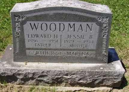 BUSSARD WOODMAN, JESSIE - Madison County, Ohio | JESSIE BUSSARD WOODMAN - Ohio Gravestone Photos