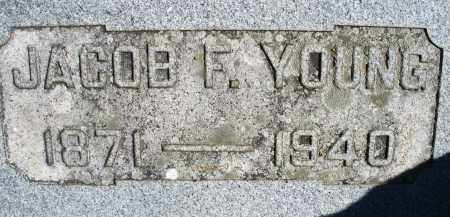 YOUNG, JACOB F. - Madison County, Ohio   JACOB F. YOUNG - Ohio Gravestone Photos
