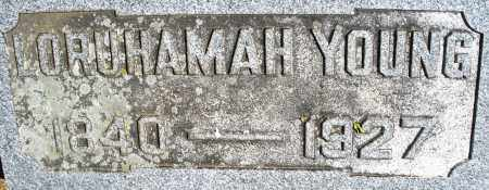 YOUNG, LORUHAMAH - Madison County, Ohio | LORUHAMAH YOUNG - Ohio Gravestone Photos