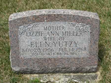 MILLER YUTZY, LIZZIE ANN - Madison County, Ohio | LIZZIE ANN MILLER YUTZY - Ohio Gravestone Photos