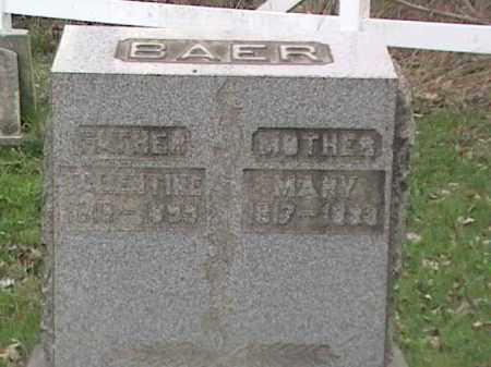 BAER, VALENTINE - Mahoning County, Ohio | VALENTINE BAER - Ohio Gravestone Photos