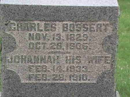 BOSSERT, CHARLES & JOHANNAH - Mahoning County, Ohio | CHARLES & JOHANNAH BOSSERT - Ohio Gravestone Photos