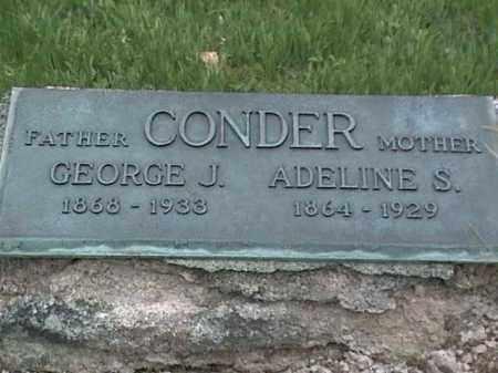 CONDER, ADALINE S. - Mahoning County, Ohio | ADALINE S. CONDER - Ohio Gravestone Photos