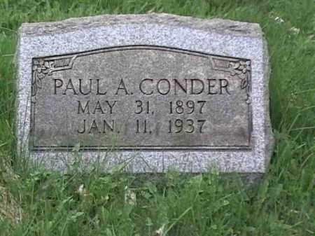 CONDER, PAUL A. - Mahoning County, Ohio   PAUL A. CONDER - Ohio Gravestone Photos