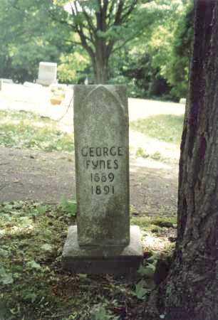 FYNES, GEORGE - Mahoning County, Ohio | GEORGE FYNES - Ohio Gravestone Photos