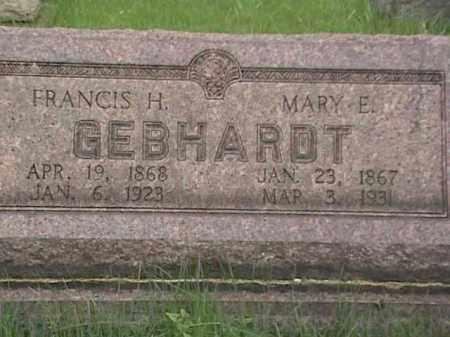 GEBHARDT, MARY E. - Mahoning County, Ohio   MARY E. GEBHARDT - Ohio Gravestone Photos