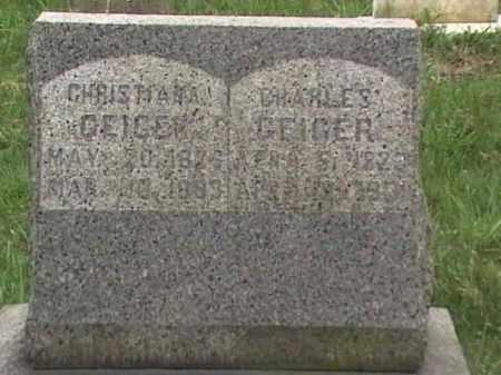 GEIGER, CHRISTIANA & CHARLES - Mahoning County, Ohio | CHRISTIANA & CHARLES GEIGER - Ohio Gravestone Photos