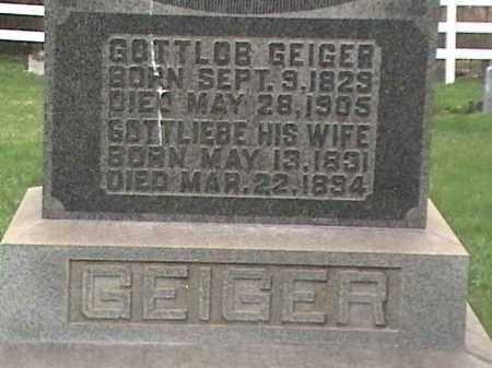 GEIGER, GOTTLOB - Mahoning County, Ohio | GOTTLOB GEIGER - Ohio Gravestone Photos
