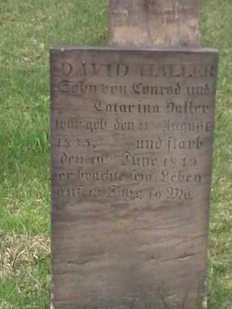 HALLER, DAVID - Mahoning County, Ohio   DAVID HALLER - Ohio Gravestone Photos