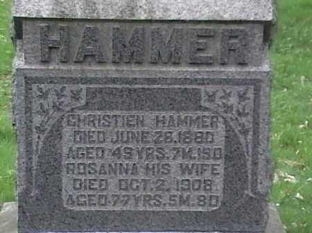HAMMER, CHRISTIEN & ROSANNA - Mahoning County, Ohio | CHRISTIEN & ROSANNA HAMMER - Ohio Gravestone Photos