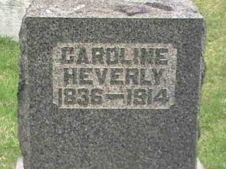 HEVERLY, CAROLINE - Mahoning County, Ohio   CAROLINE HEVERLY - Ohio Gravestone Photos