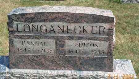 KAHLER LONGANECKER, HANNAH - Mahoning County, Ohio   HANNAH KAHLER LONGANECKER - Ohio Gravestone Photos