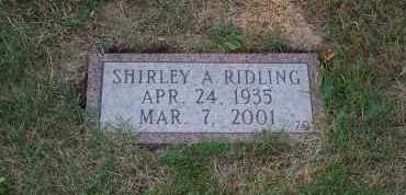 RIDLING, SHIRLEY A. - Mahoning County, Ohio | SHIRLEY A. RIDLING - Ohio Gravestone Photos