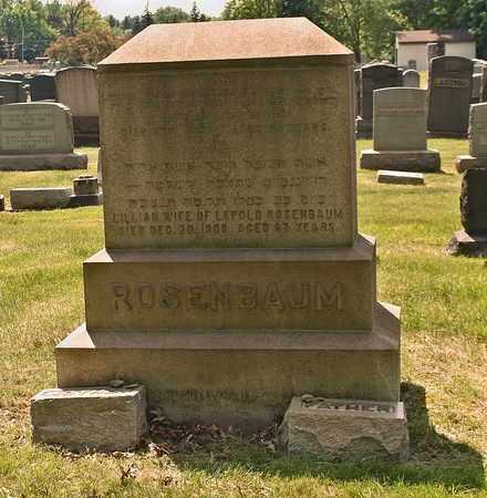 FRIEDMAN ROSENBAUM, LILLIAN - Mahoning County, Ohio | LILLIAN FRIEDMAN ROSENBAUM - Ohio Gravestone Photos
