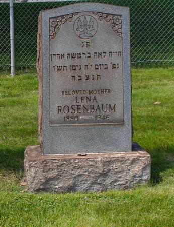 ROSENBAUM, LENA - Mahoning County, Ohio   LENA ROSENBAUM - Ohio Gravestone Photos