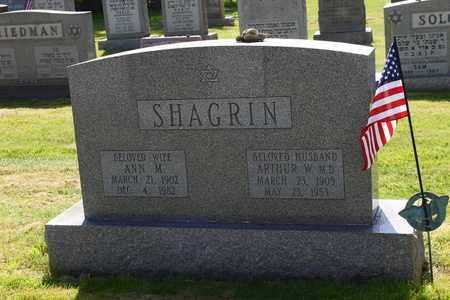 SHAGRIN, ARTHUR - Mahoning County, Ohio | ARTHUR SHAGRIN - Ohio Gravestone Photos