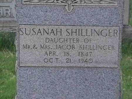 SHILLINGER, SUSANAH - Mahoning County, Ohio | SUSANAH SHILLINGER - Ohio Gravestone Photos