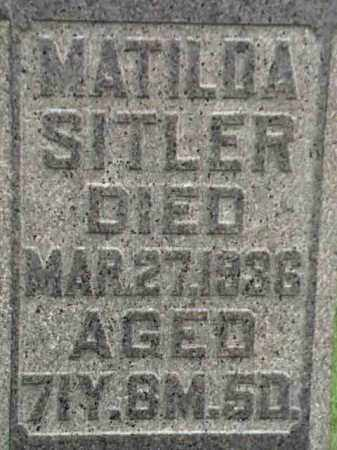 SITLER, MATILDA - Mahoning County, Ohio   MATILDA SITLER - Ohio Gravestone Photos