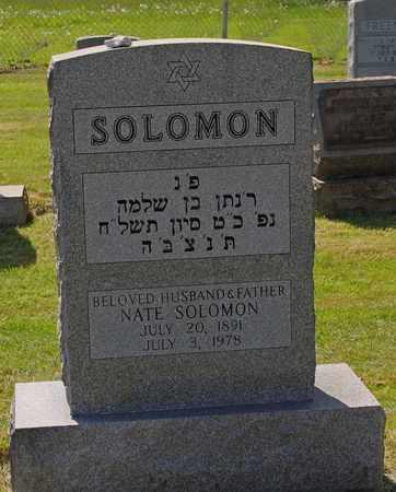 SOLOMON, NATE - Mahoning County, Ohio | NATE SOLOMON - Ohio Gravestone Photos