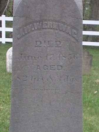 WERNWAG, J. W. - Mahoning County, Ohio | J. W. WERNWAG - Ohio Gravestone Photos