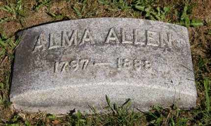 ALLEN, ALMA - Marion County, Ohio | ALMA ALLEN - Ohio Gravestone Photos