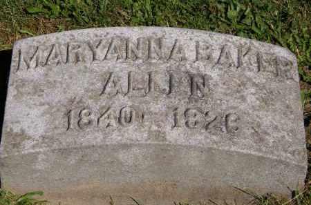 ALLEN, MARYANNA BAKER - Marion County, Ohio | MARYANNA BAKER ALLEN - Ohio Gravestone Photos