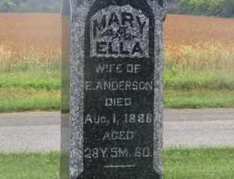 ANDERSON, MARY ELLA - Marion County, Ohio | MARY ELLA ANDERSON - Ohio Gravestone Photos
