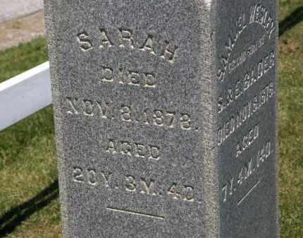 BADER, SARAH - Marion County, Ohio | SARAH BADER - Ohio Gravestone Photos