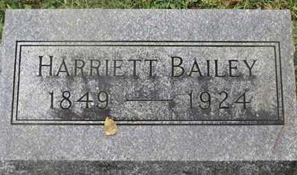 BAILEY, HARRIETT - Marion County, Ohio | HARRIETT BAILEY - Ohio Gravestone Photos