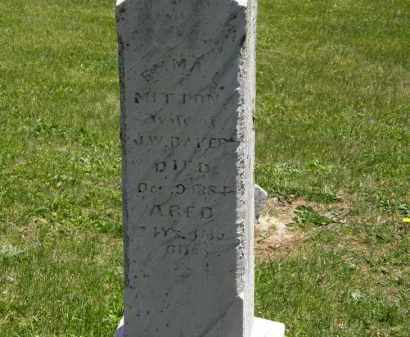 BAKER, J.W. - Marion County, Ohio | J.W. BAKER - Ohio Gravestone Photos