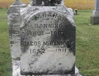BANNING, JACOB M. - Marion County, Ohio | JACOB M. BANNING - Ohio Gravestone Photos