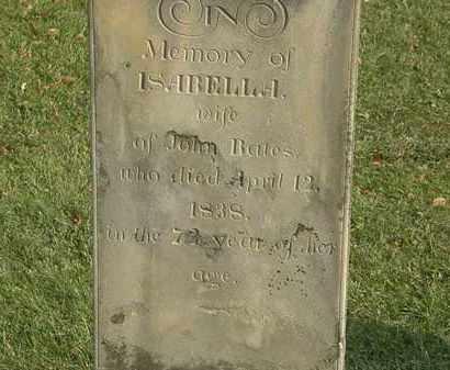 BATES, ISABELLA - Marion County, Ohio | ISABELLA BATES - Ohio Gravestone Photos