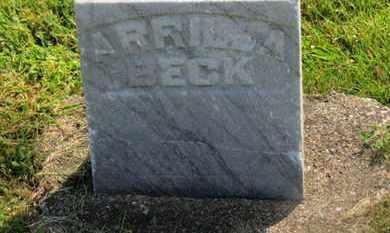 BECK, ARRILLA - Marion County, Ohio | ARRILLA BECK - Ohio Gravestone Photos