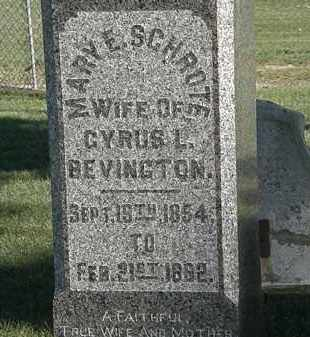 BEVINGTON, MARY E. - Marion County, Ohio | MARY E. BEVINGTON - Ohio Gravestone Photos