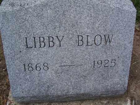 BLOW, LIBBY - Marion County, Ohio | LIBBY BLOW - Ohio Gravestone Photos