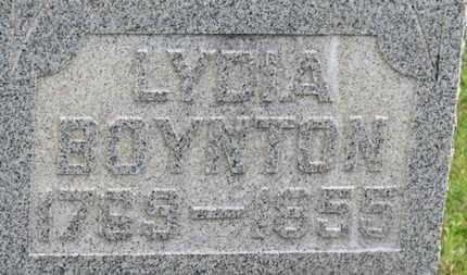 BOYNTON, LYDIA - Marion County, Ohio | LYDIA BOYNTON - Ohio Gravestone Photos