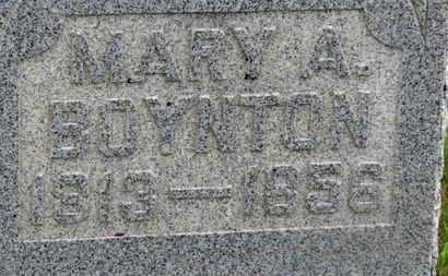 BOYNTON, MARY A. - Marion County, Ohio | MARY A. BOYNTON - Ohio Gravestone Photos
