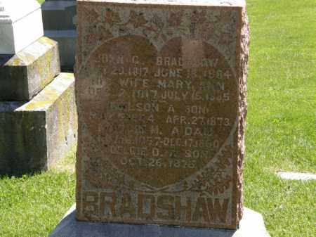 BRADSHAW, MARY ANN - Marion County, Ohio | MARY ANN BRADSHAW - Ohio Gravestone Photos