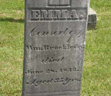 BROCKLESBY, EMMA - Marion County, Ohio | EMMA BROCKLESBY - Ohio Gravestone Photos