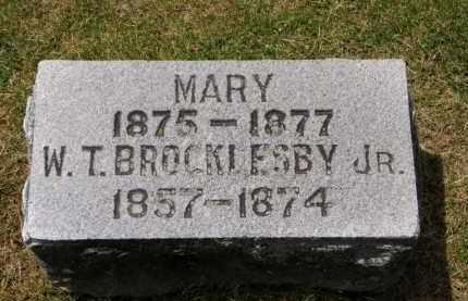 BROCKLESBY, W.T. JR. - Marion County, Ohio   W.T. JR. BROCKLESBY - Ohio Gravestone Photos