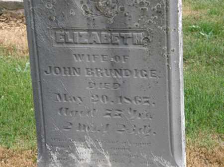 BRUNDIGE, ELIZABETH - Marion County, Ohio | ELIZABETH BRUNDIGE - Ohio Gravestone Photos