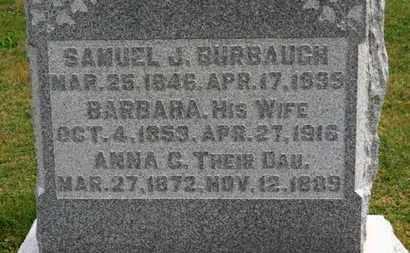 BURBAUGH, SAMUEL J. - Marion County, Ohio | SAMUEL J. BURBAUGH - Ohio Gravestone Photos