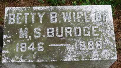 BURDGE, BETTY B. - Marion County, Ohio | BETTY B. BURDGE - Ohio Gravestone Photos