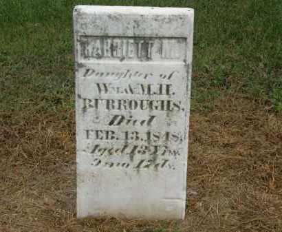 BURROUGHS, HARRIETT M. - Marion County, Ohio | HARRIETT M. BURROUGHS - Ohio Gravestone Photos